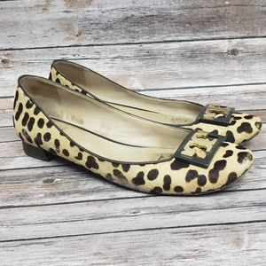 Tory Burch Gigi Logo Leopard Print Pumps Shoes 11